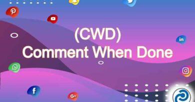 CWD mean in social media