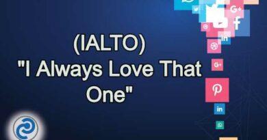 IALTO Meaning in Snapchat