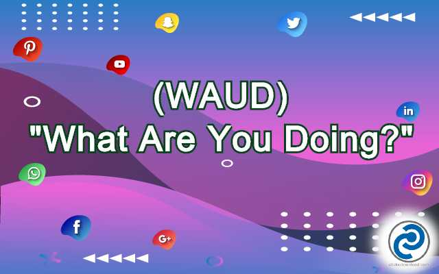 WAUD Meaning in Snapchat