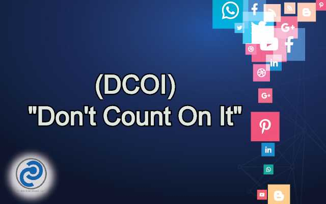 DCOI Meaning in Snapchat