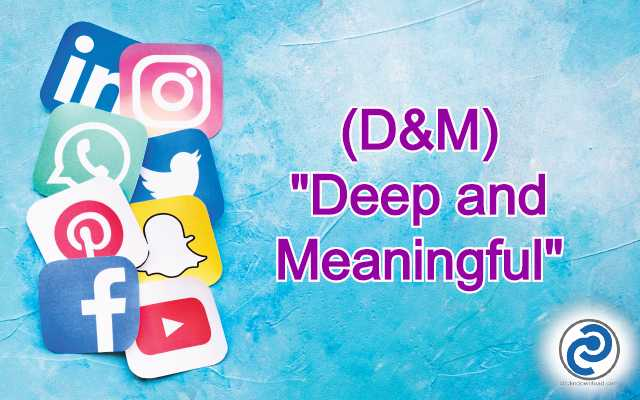 D&M Meaning in Snapchat