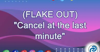 FLAKE OUT Meaning in Snapchat