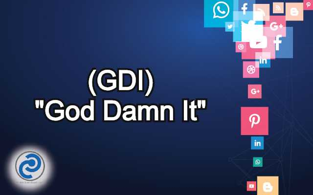 What Does GDI Mean in Social Media? GDI Meaning in ...
