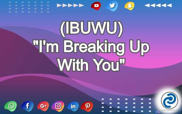 IBUWU Meaning in Snapchat