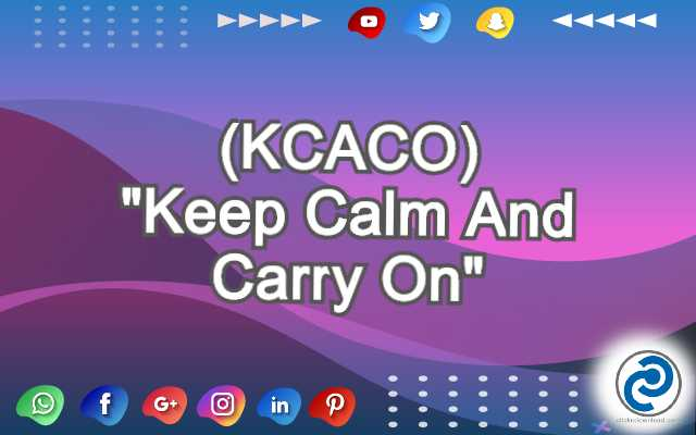 KCACO Meaning in Snapchat