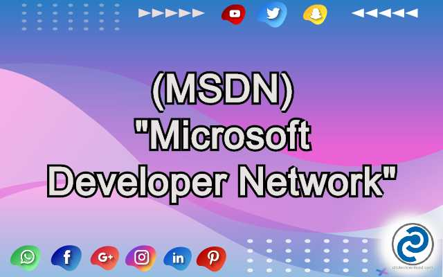 MSDN Meaning in Snapchat