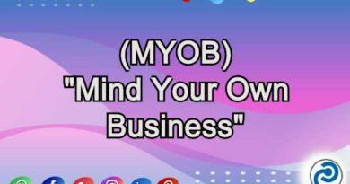MYOB Meaning in Snapchat