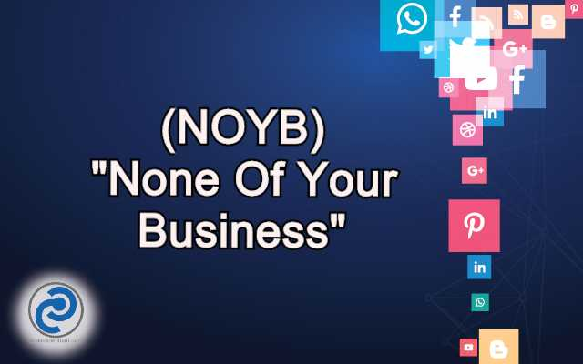 NOYB Meaning in Snapchat