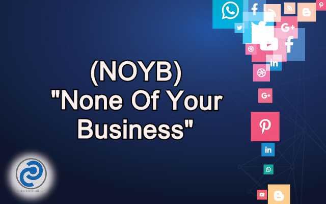 NOYB Meaning in Snapchat