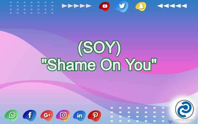 SOY Meaning in Snapchat