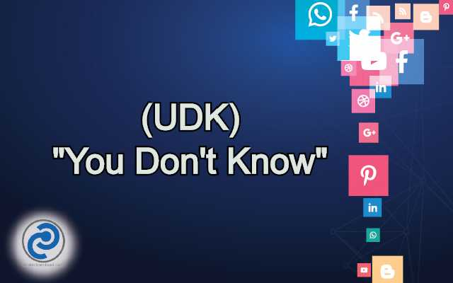 UDK Meaning in Snapchat