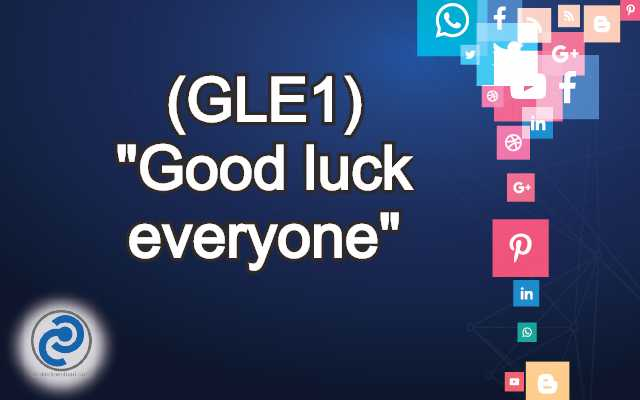 GLE1 Meaning in Snapchat,