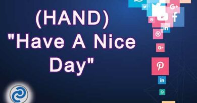 HAND Meaning in Snapchat,