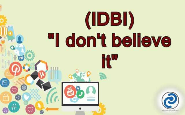 IDBI Meaning in Snapchat,