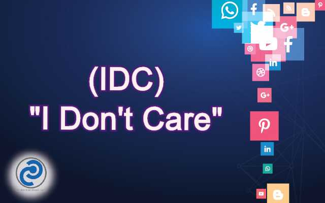 IDC Meaning in Snapchat,