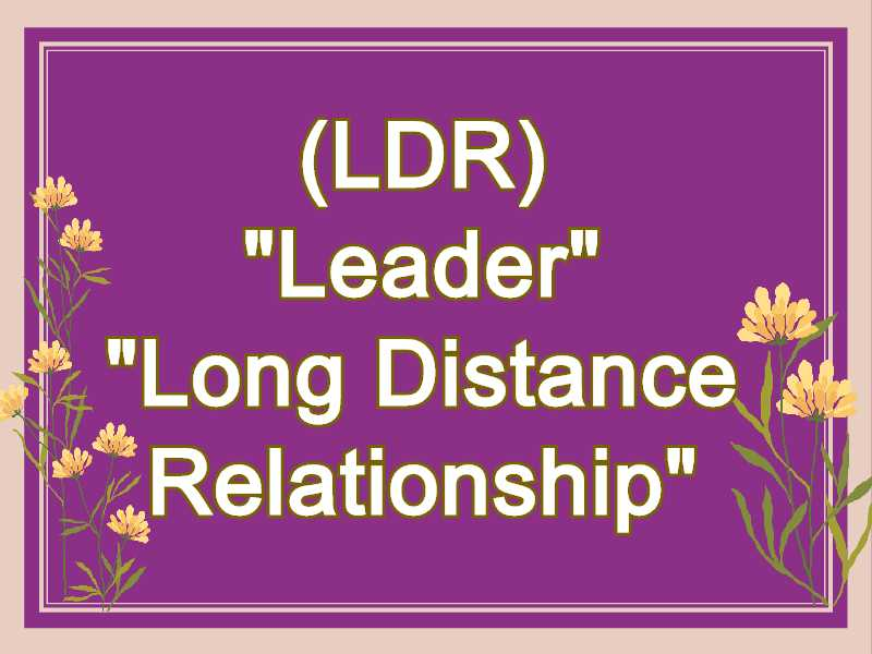 LDR Meaning in Snapchat,